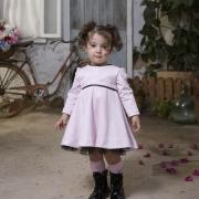 vestido suede rosa Lily
