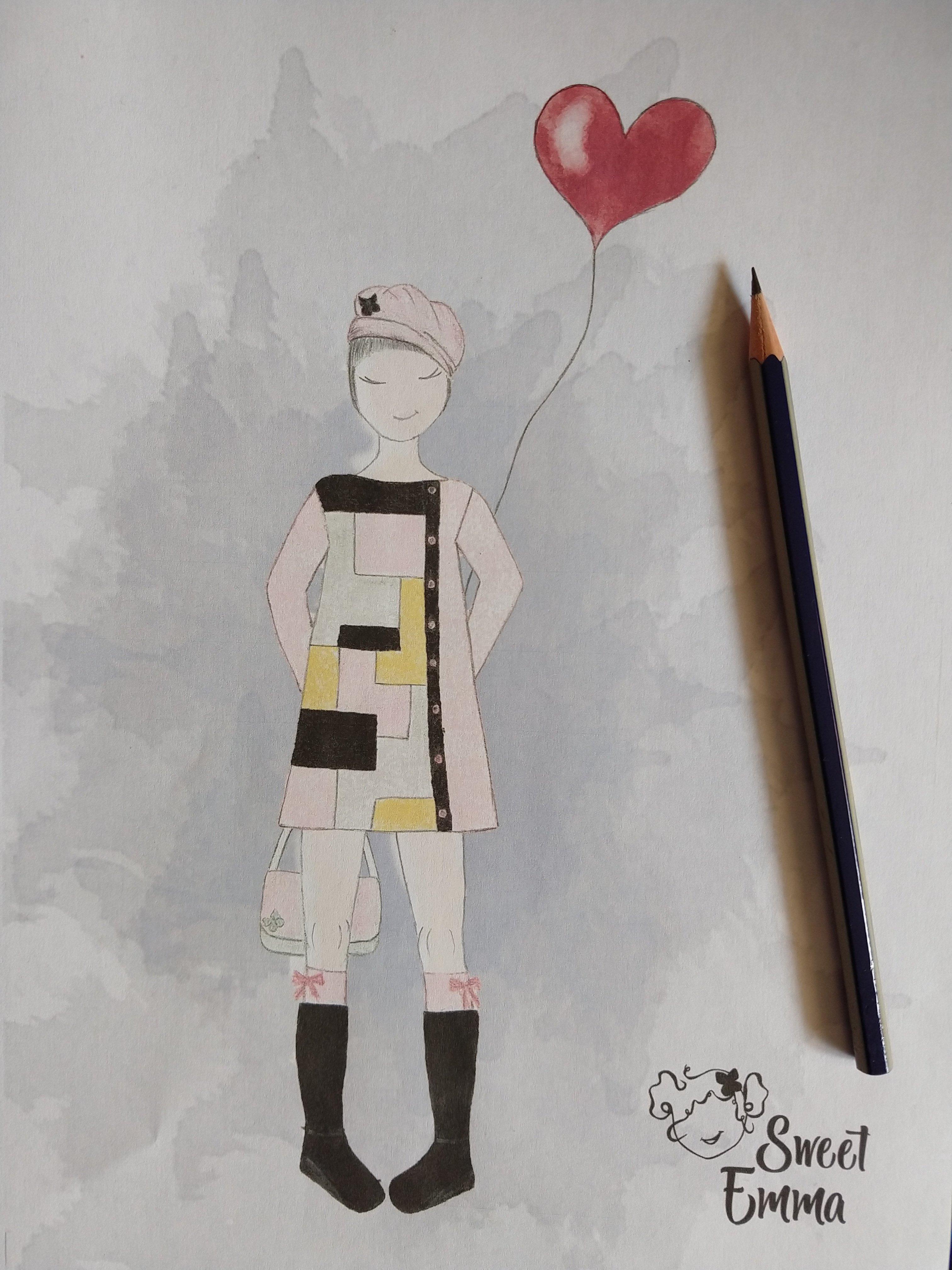Boceto diseño Sweet Emma