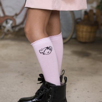 calcetines altos rosa Sweet Emma